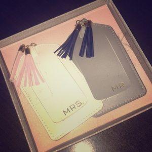Wedding gift set—Mr. & Mrs. Luggage tags